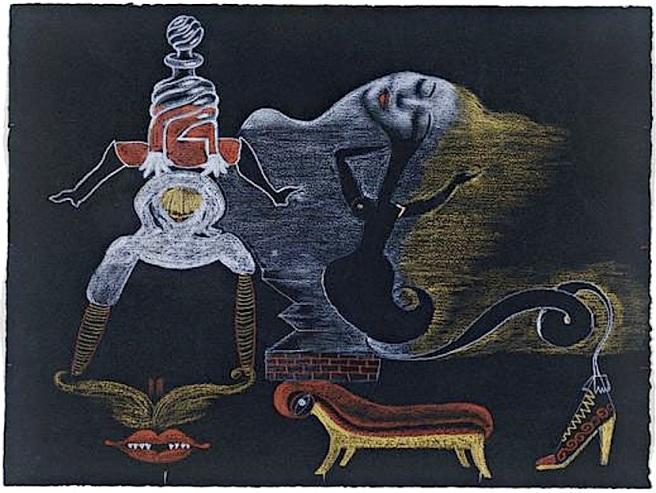 Exquisite Corpse-Valentine Hugo, Andre Breton, Tristan Tzara, Greta Knudsen-1933