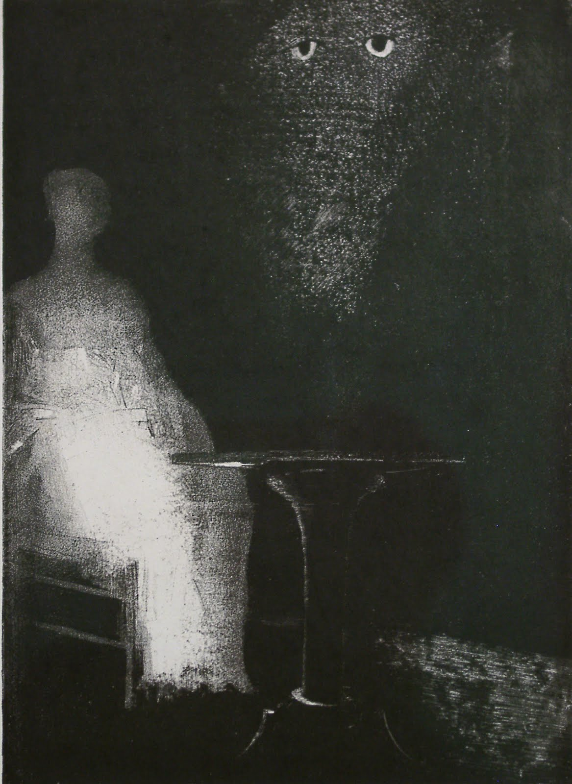 gr194-odilon-redon-1840-1916-i-saw-above-the-misty-outline-of-a-human-form-1896[1]
