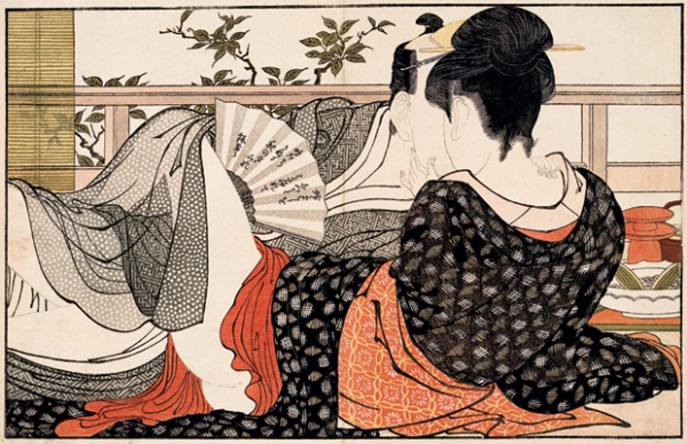 Lovers-in-the-upstairs-room-of-a-teahouse-from-Poem-of-the-Pillow-1788-by-Kitagawa-Utamaro[1]
