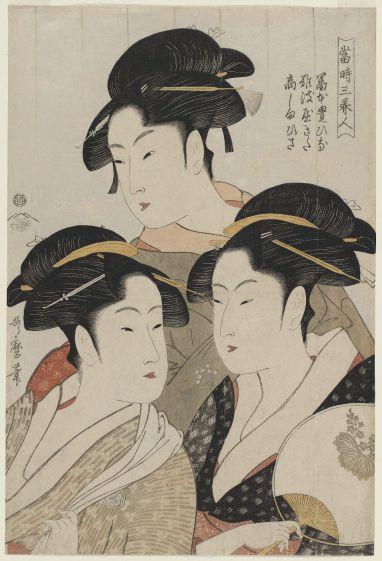 Utamaro-Three Beauties of the Present Day
