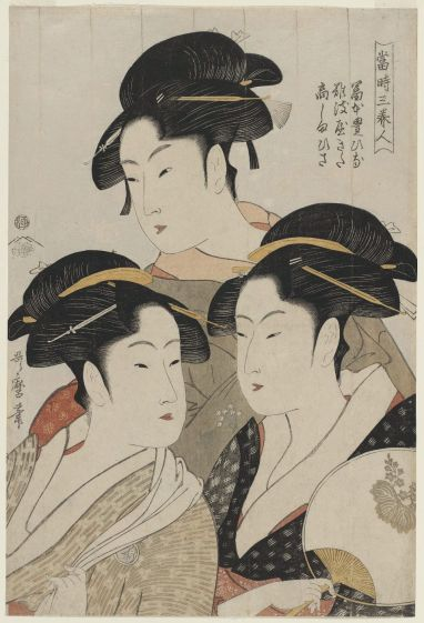 Utamaro-Three Beauties of the Present Day