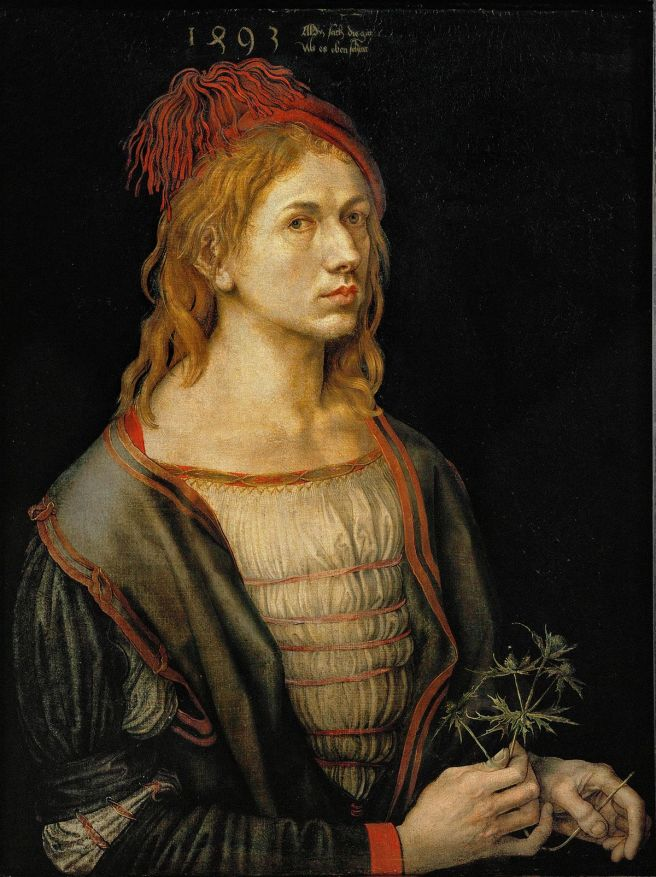 Durer-Portrait of the Artist Holding a Thistle