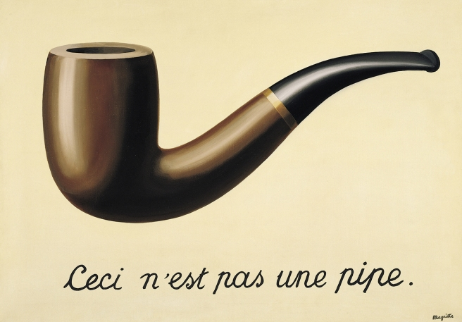 The Treachery of Images (This is not a pipe)-Rene Magritte-1928-1929