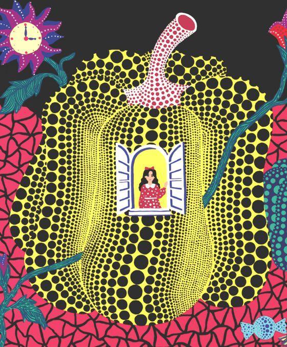 Yayoi Kusama-Alice In Wonderland 2012