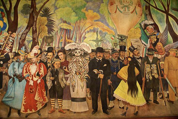 Diego Rivera=Dream at the Alameda