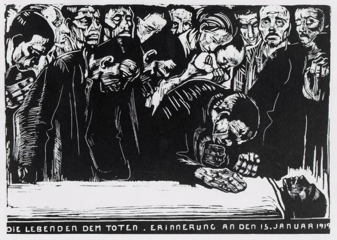 Kathe Kollwitz-Memorial to Karl Liebknecht-1919