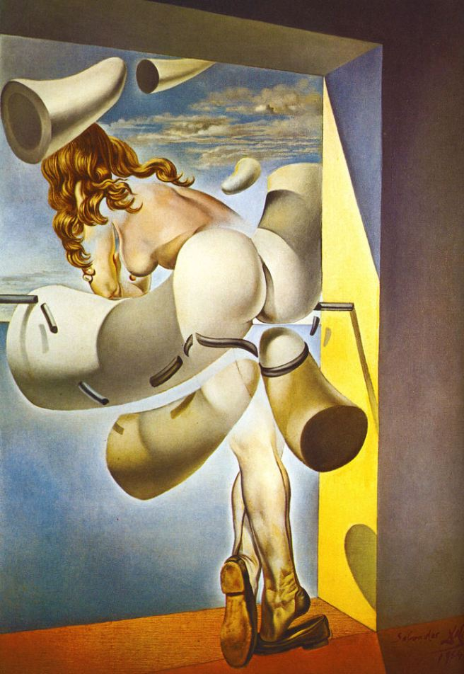 Young Virgin Auto-Sodomized by the Horns of Her Own Chastity-Salvador Dali 1954
