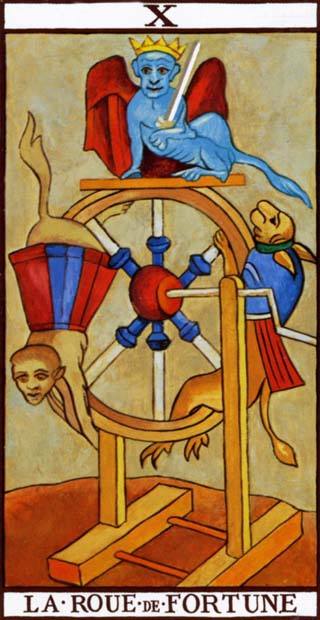 The Wheel of Fortune-Tarot de Marseille