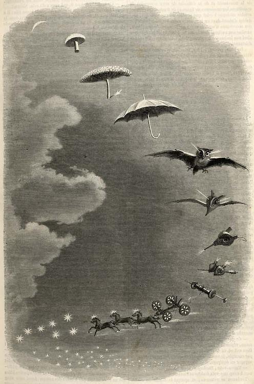 Second Dream: A Stroll in the Sky-J.J Grandville 1847