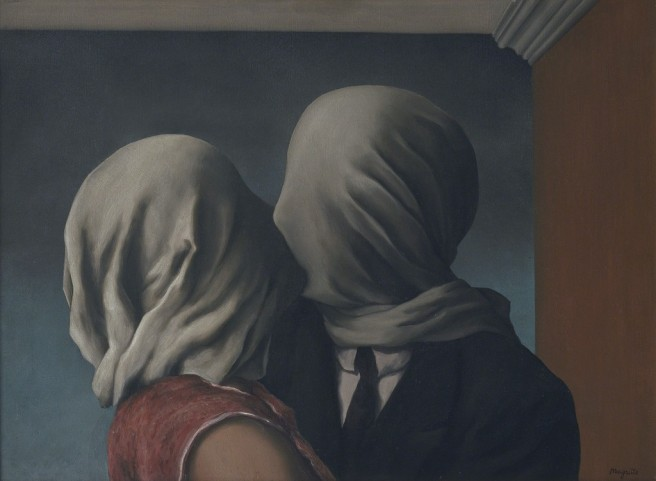 Rene Magritte-The Lovers 1928