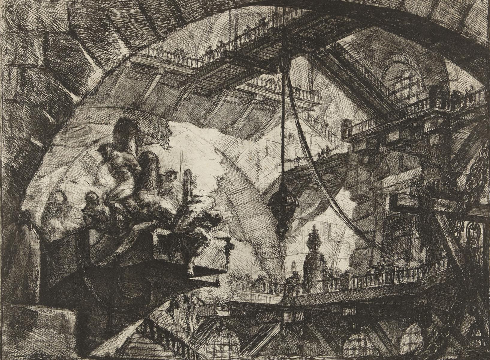Piranesi-Carceri-X Prisoners_on_a_Projecting_Platform-1761