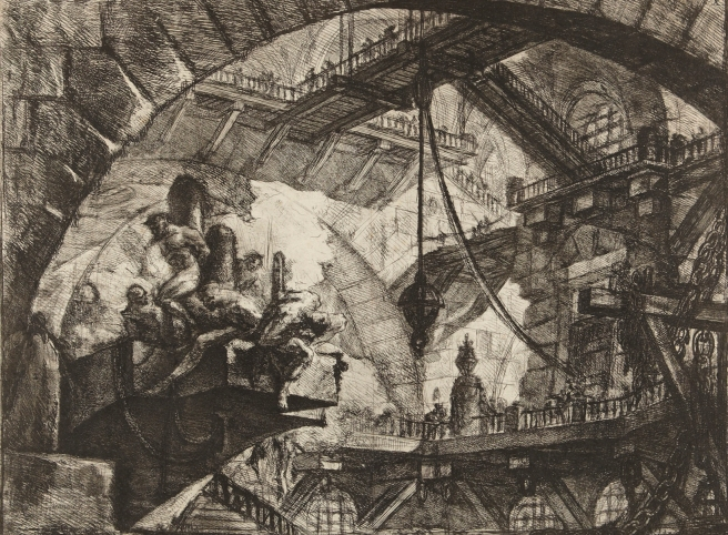 Piranesi-Carceri-X Prisoners_on_a_Projecting_Platform-1761