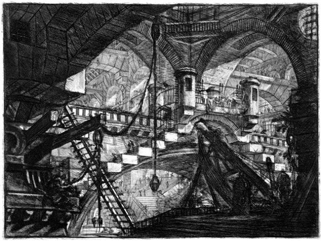 Piranesi-Carceri XI-The Arch With the Shell Casement