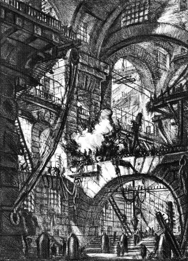 Piranesi-Carceri VI-The Smoking Fire-1761