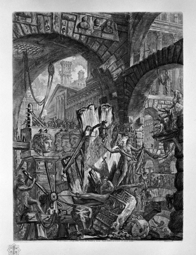 Piranesi-Carceri II-The Man on the Rack 11745-1761