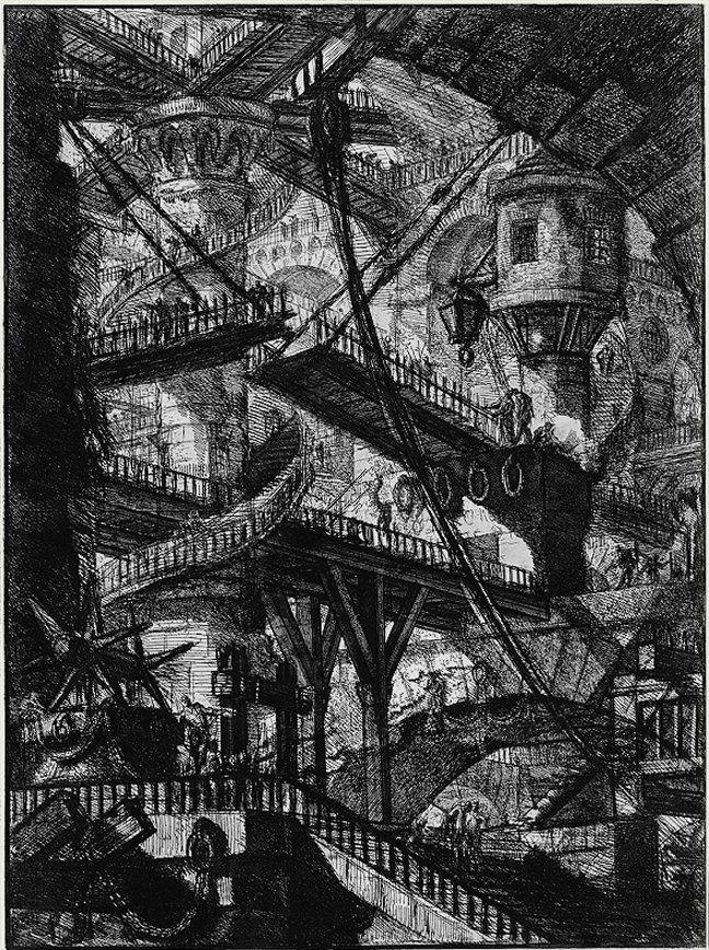 Piranesi-Carceri VII-The Drawbridge-1745-1750