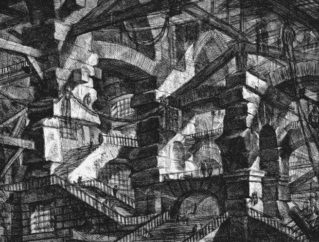 Piranesi-Carceri XIV-the Gothic Arch