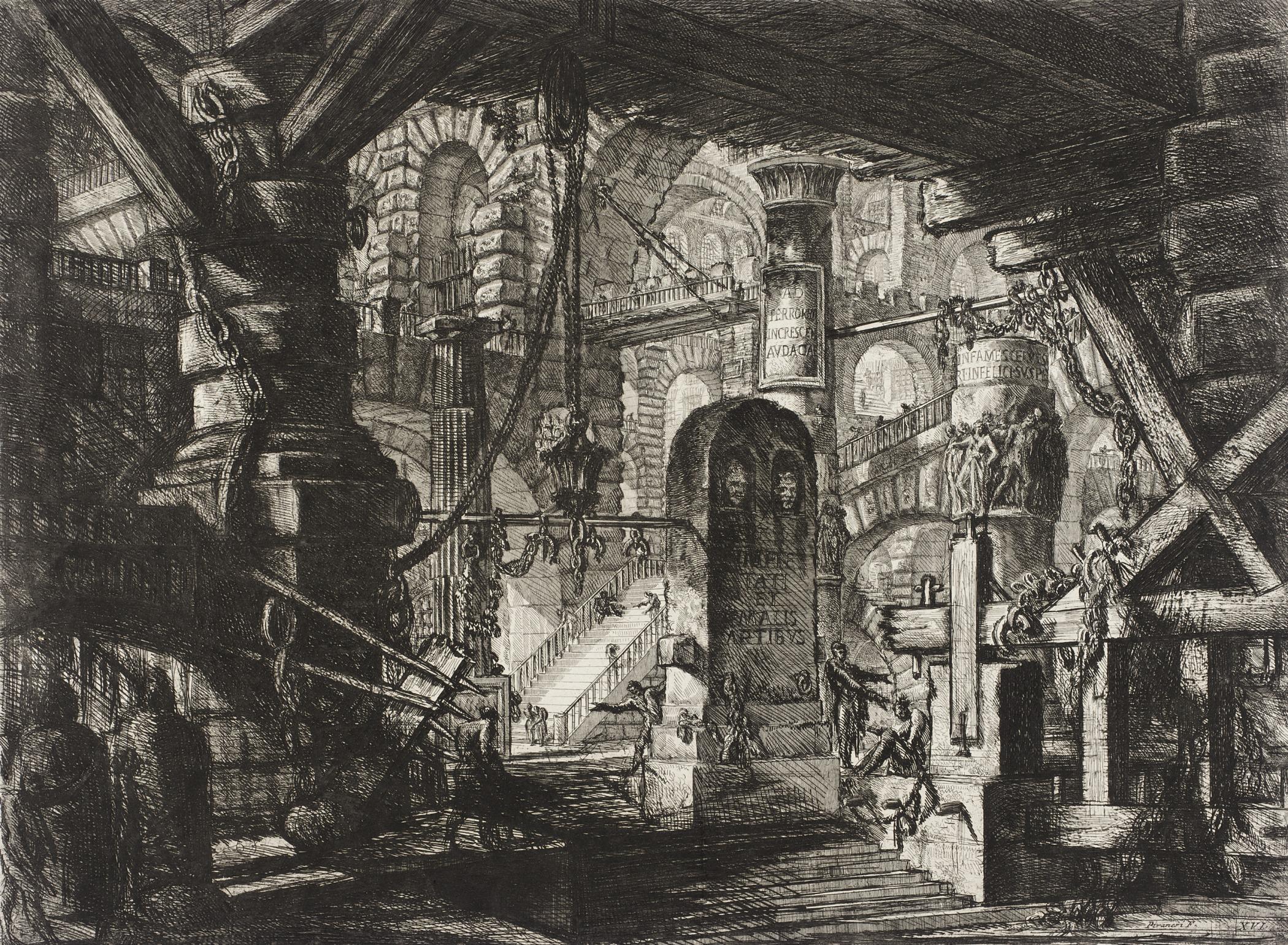 Piranesi- Carceri XVI-the Pier With Chains