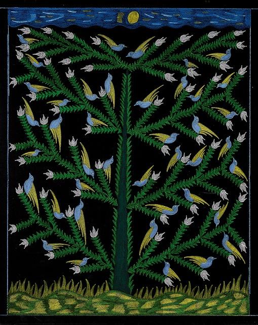 Blue Birds in the Tree-Scottie Wilson ca 1960