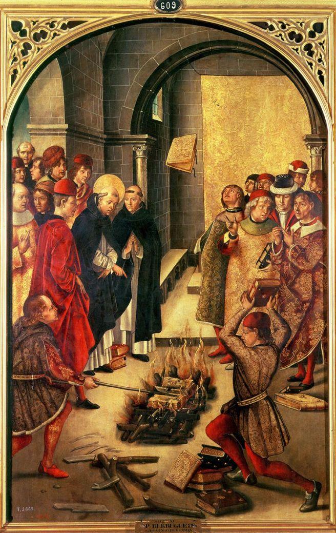 Dominic Guzmán and the Albigenses, 1480, Pedro Berruguete