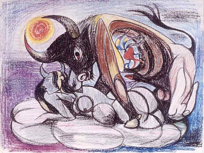 Andre Masson-Untitled 1954