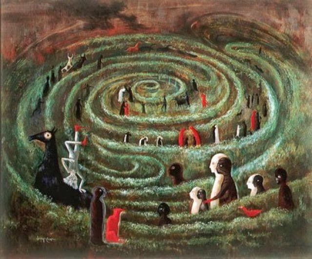 Labyrinth-Leonora Carrington 1991