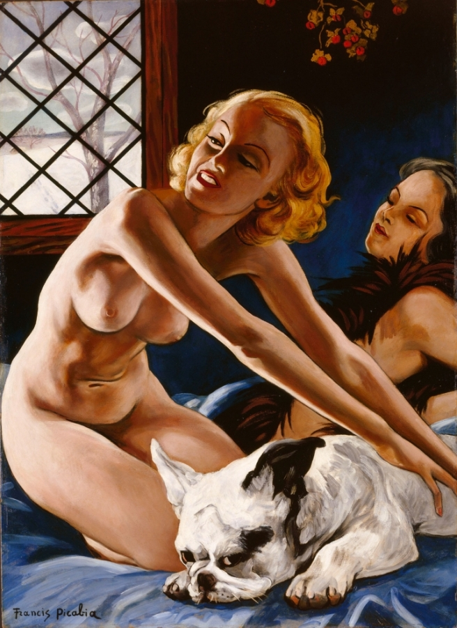 Francis Picabia-Women with Bulldog 1941-1942