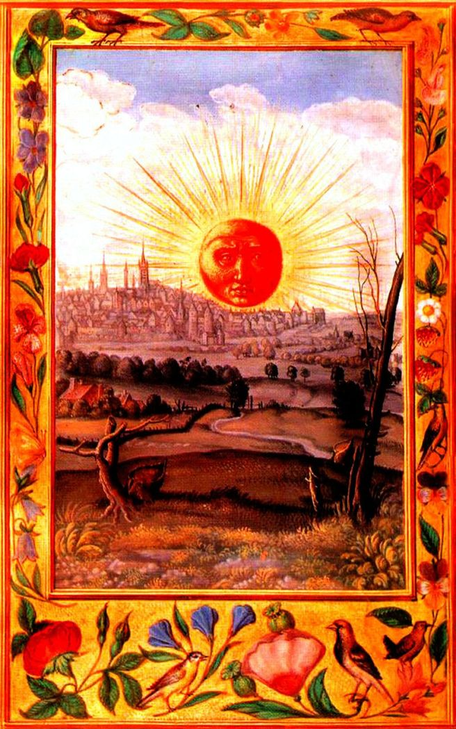 Splendor_Solis_22_Sun_Rising_Over_the_City