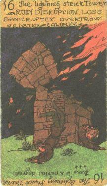 The Lightning Struck Tower-Austin Osman Spare