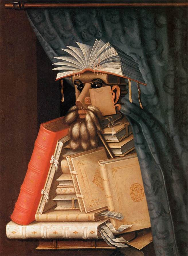 The Librarian- Guiseppe Arcimboldo 1566