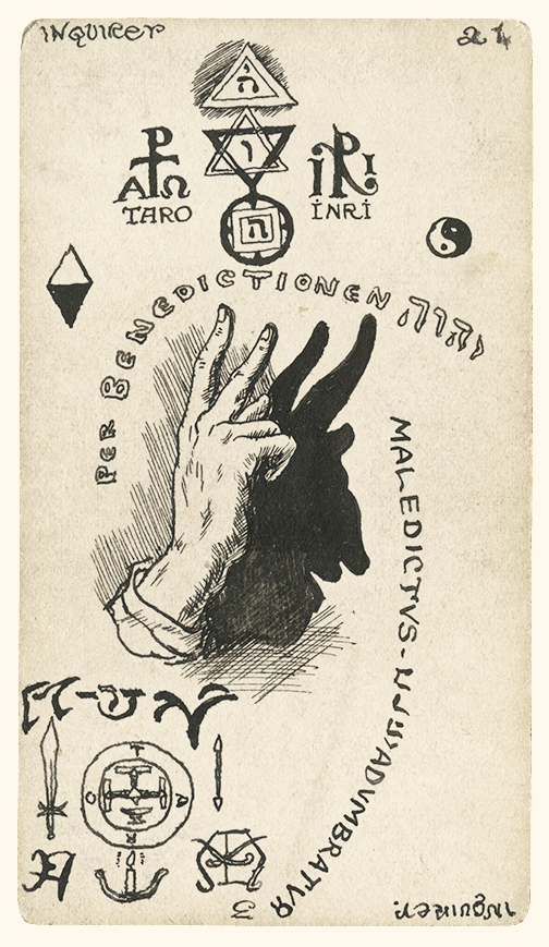 Austin Osman Spare-Inquirer Card-Tarot Deck c 1906