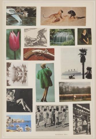 Double Sided Collage Recto-Toyen circa 1971