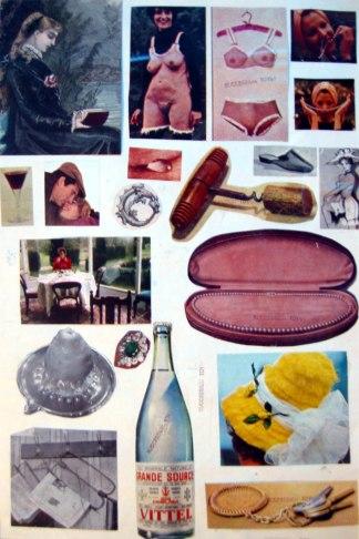 Double-Sided Collage Recto-Toyen circa 1970
