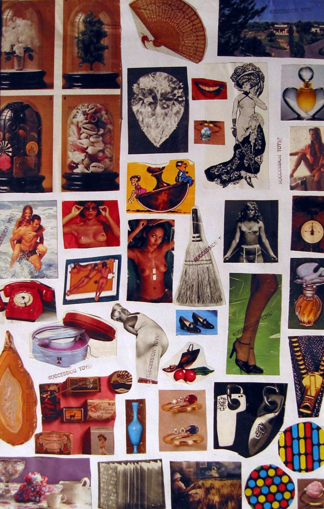 Double Sided Collage Verso-Toyen 1970