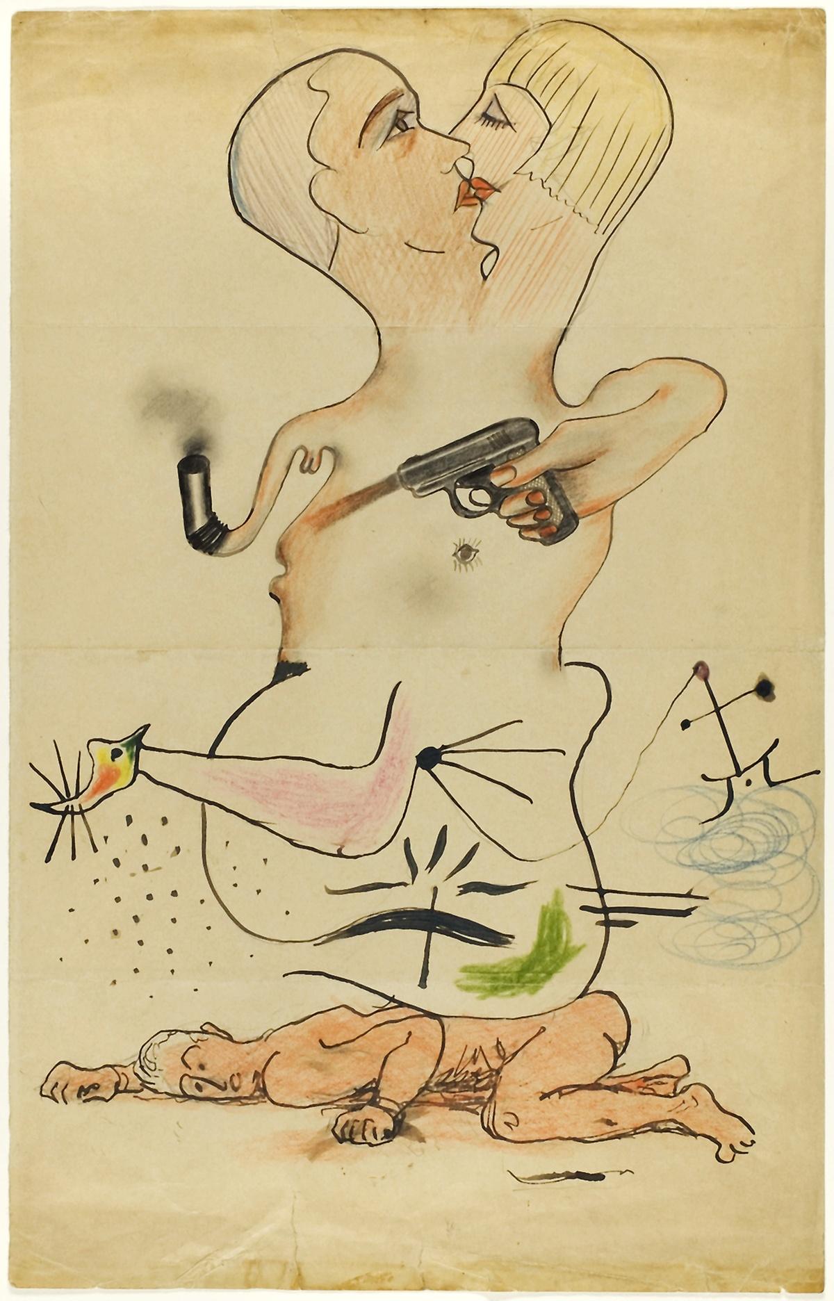 Exquiste Corpse-Man Ray, Joan Miro, Yves Tanguy & Max Morise