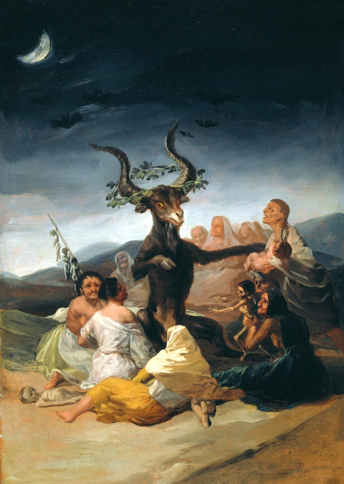 Francisco Goya-El_Aquelarre Witches Sabbath)1798