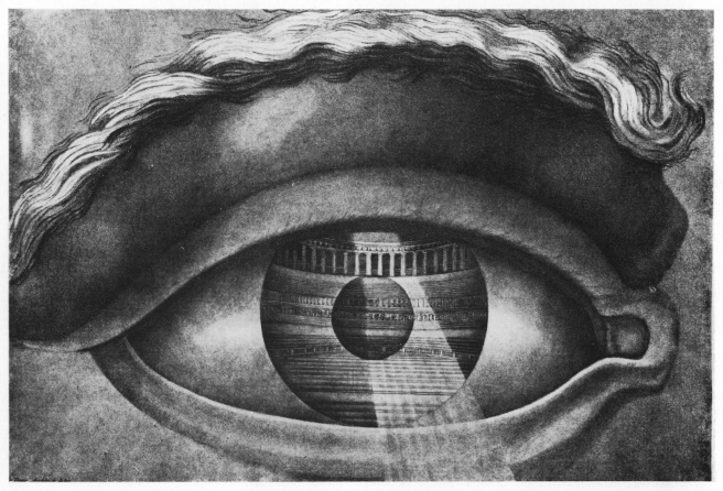 Claude Nicolas Ledoux-Symbolic Representation of the auditorium of the Theatre at Besançon as seen through the pupil of one eye