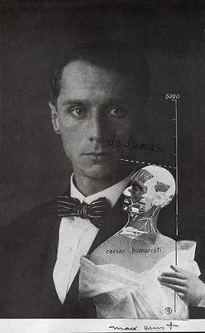 The Punching Ball or The Immortality of Buonarroti-also known as dadafex maximus. Self Portrait of Max Ernst-Max Ernst 1920