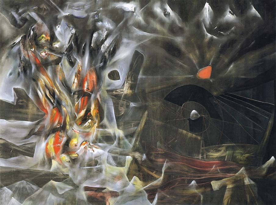 The Disasters of Mysticism-Roberto Matta 1942