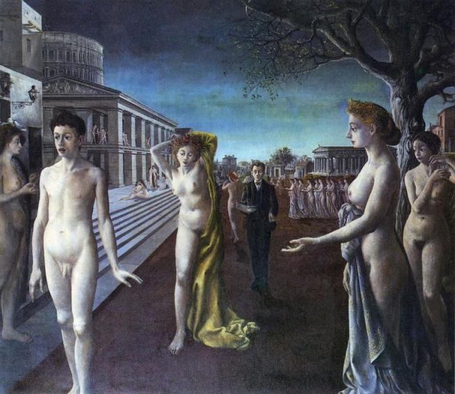 Dawn over the City-Paul Delvaux-1940