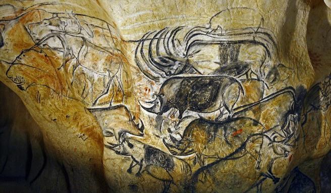 Rhinoceros & Lions-Chauvet-Pont-d'Arc Cave 30,000BP to 32,000BP