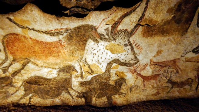 Horses, Bison and Reindeer-Lascaux circa 17,000BP