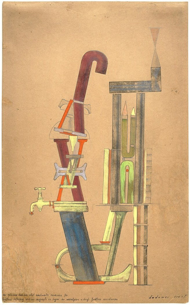 Little Machine Constructed by Minimax Dadamax in Person,  Max Ernst 1919-1920