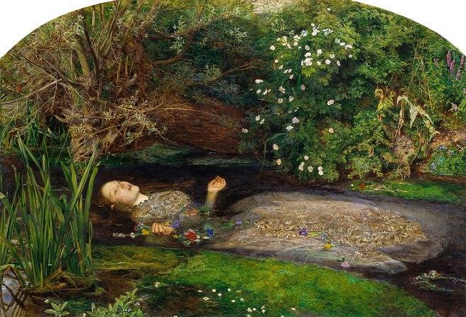 John Everett Millais-Ophelia-1851-1852