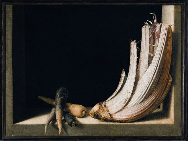 Juan Sánchez Cotán-Still-life with Cardoon ca 1600-1602