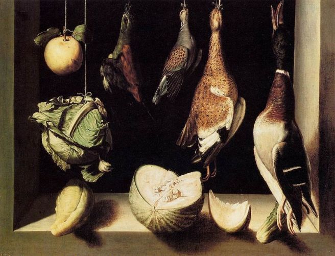 Juan Sánchez Cotán-Still-Life with Game Fowl ca 1602