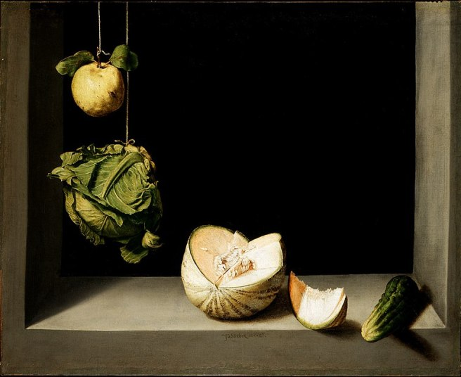Juan Sánchez Cotán-Quince, Cabbage, Melon and Cucumber-1600-1602