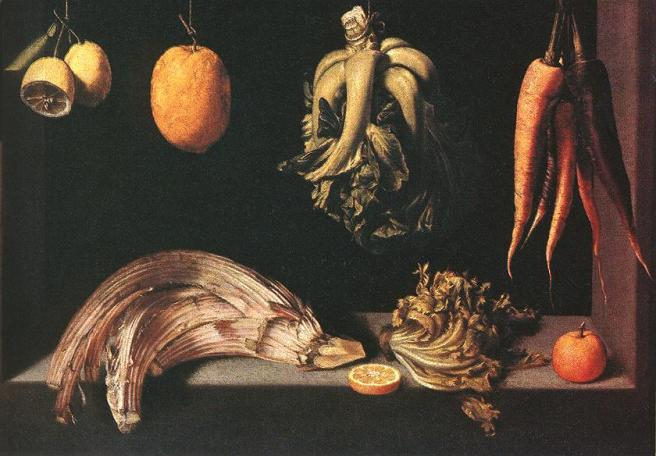 Juan Sánchez Cotán-Still life with Fruit and Vegetables