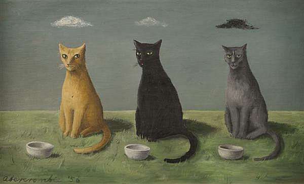 Three Cats-Gertrude Abercrombie 1956