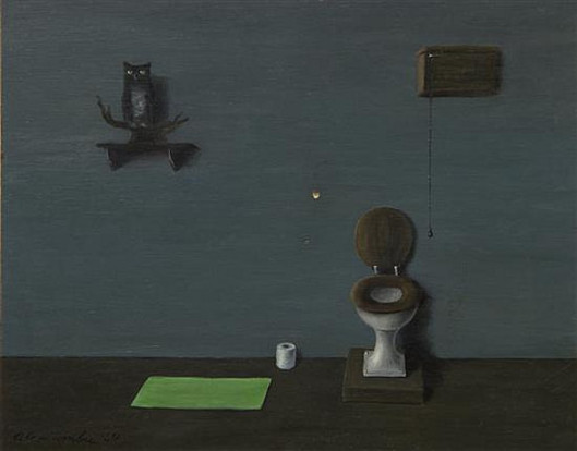 The Owl in the Bathroom-Gertrude Abercrombie 1964